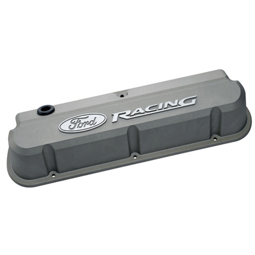 FORD RACING 289-351 SLANT EDGE VALVE COVER GRAY