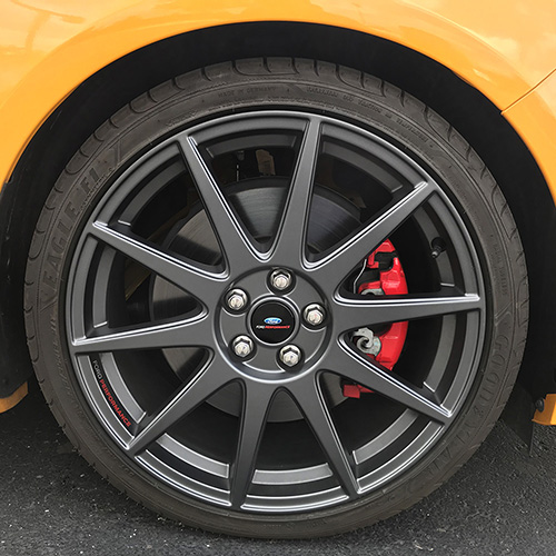 "2013-2018 FOCUS ST FORD PERFORMANCE 19""X 8"" MATTE GRAY WHEEL SET WITH TPMS KIT"