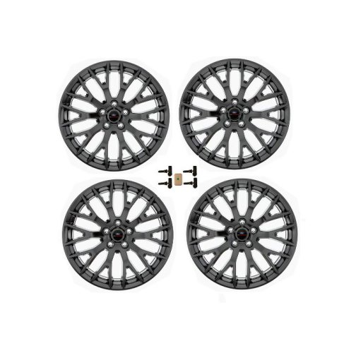 "2015-2019 MUSTANG GT 19"" X 9"" & 19"" X 9.5"" PERFORMANCE PACK WHEEL SET WITH TPMS KIT - MATTE BLACK"