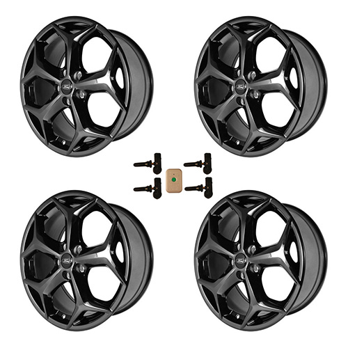 "2012-2018 FOCUS ST 18"" X 8"" WHEEL SET WITH TPMS KIT - GLOSS BLACK"