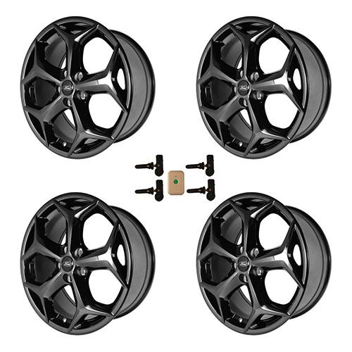 2012 2018 Focus St 18 X 8 Wheel Set With Tpms Kit Gloss Black
