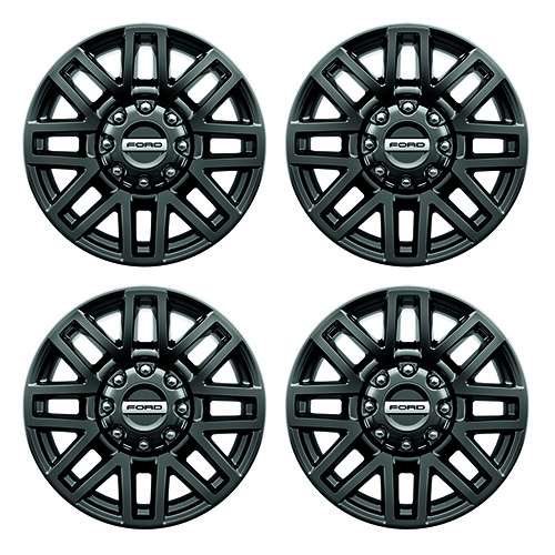 "2005-2020 F-SUPER DUTY 20"" X 8"" PREMIUM BLACK PAINTED ALUMINUM WHEEL PACKAGE WITH TPMS KIT"