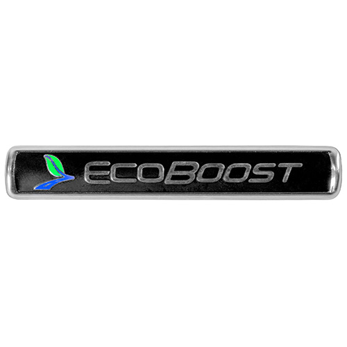 ECOBOOST EMBLEMS/BADGES-BLACK AND SILVER-PAIR