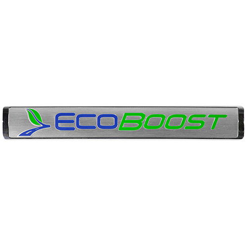 ECOBOOST EMBLEMS/BADGES-SILVER-LARGE SIZE-PAIR