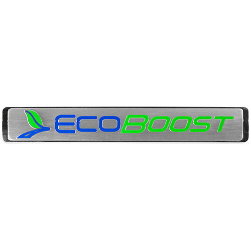 ECOBOOST EMBLEMS/BADGES-SILVER-MEDIUM SIZE-PAIR
