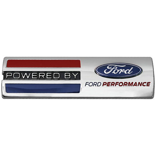 powered by ford performance badge part details for m. Black Bedroom Furniture Sets. Home Design Ideas