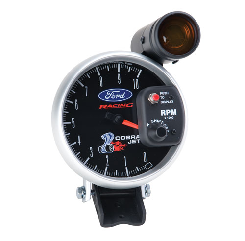"MUSTANG SUPER COBRA JET 5"" TACHOMETER W/ SHIFT LIGHT"