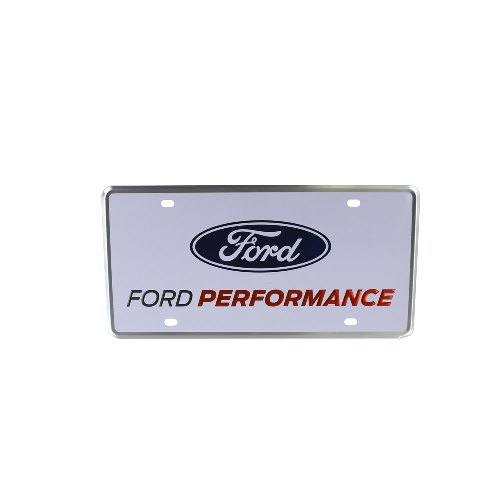 ford performance license plate single part details for. Black Bedroom Furniture Sets. Home Design Ideas
