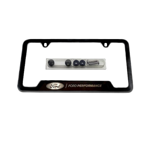 BLACK STAINLESS STEEL FORD PERFORMANCE LICENSE PLATE FRAME| Part ...