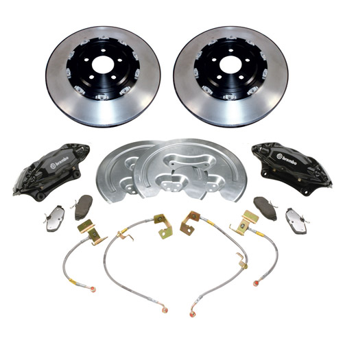 "2005-2014 MUSTANG GT 14"" SVT BRAKE UPGRADE KIT W/ 2-PIECE ROTORS"