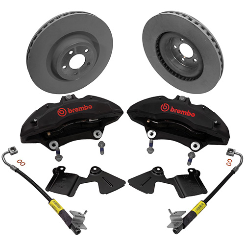 Brembo Brake Pads >> 2015-2018 MUSTANG PERFORMANCE PACK 6-PISTON FRONT BRAKE KIT| Part Details for M-2300-V | Ford ...