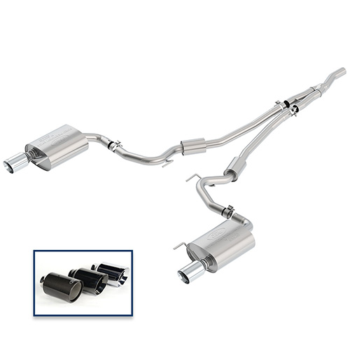 2015-2019 MUSTANG 2.3L ECOBOOST CAT-BACK SPORT EXHAUST SYSTEM WITH CHROME TIPS