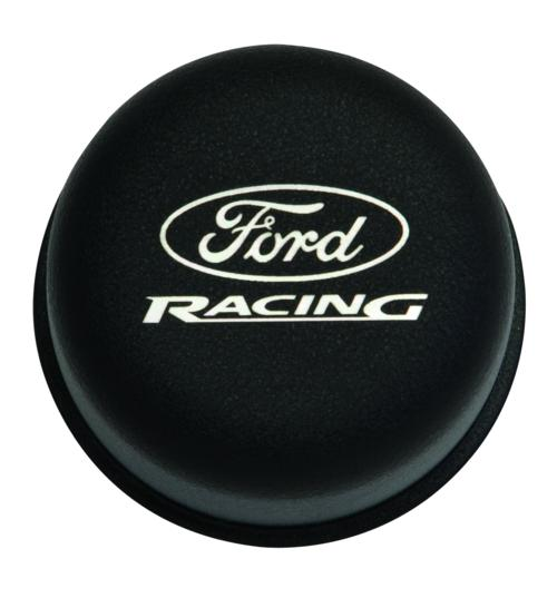 BLACK BREATHER CAP W/ FORD RACING LOGO