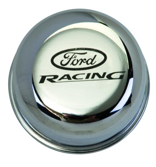 CHROME BREATHER CAP W/ FORD RACING LOGO