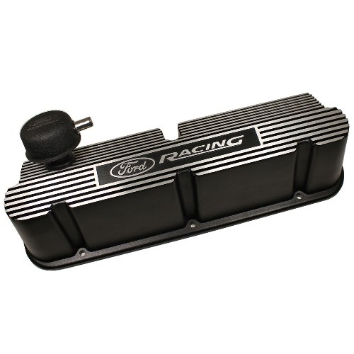 289-302-351W SB FORD RACING BLACK RIBBED ALUMINUM VALVE COVER