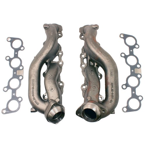 2015-2017 5.0L COYOTE STREET ROD CAST IRON EXHAUST MANIFOLDS