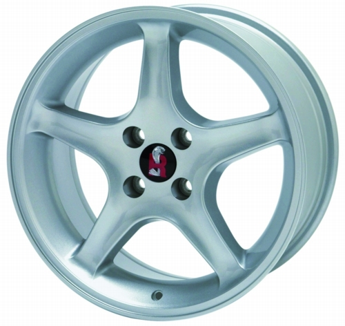"SILVER FORD RACING MUSTANG COBRA ""R"" WHEEL"