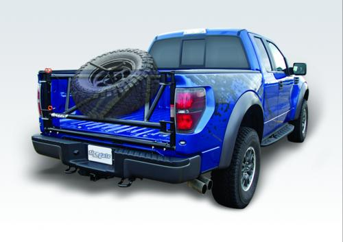 INBOARD TIREGATE WHEEL AND TIRE CARRIER
